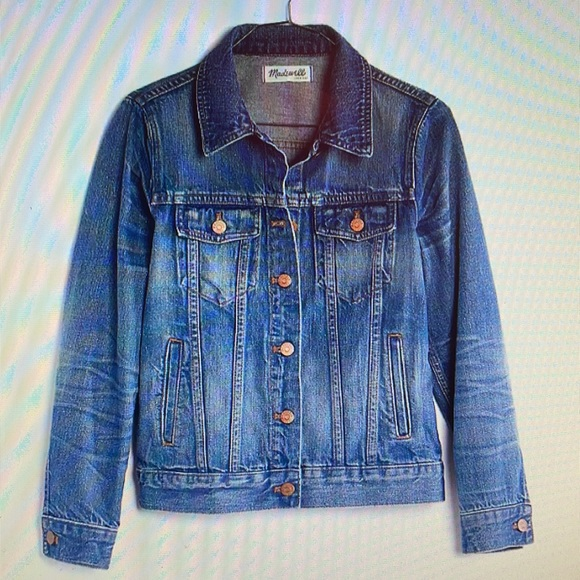 Women's Madewell XS Pinter Washed Jean Jacket